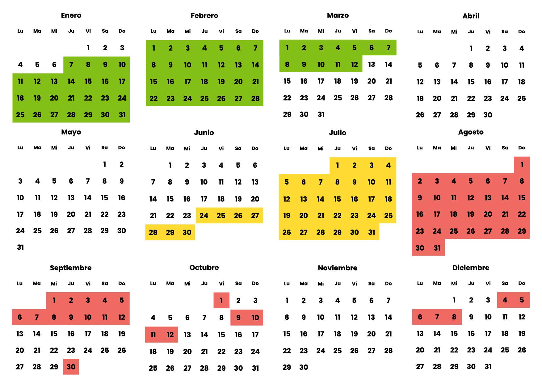 Calendario Barcelona 2021