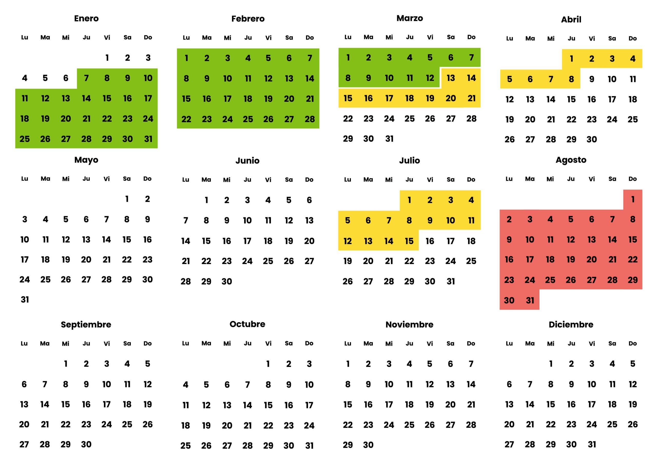 Calendario Valencia Autocaravanas