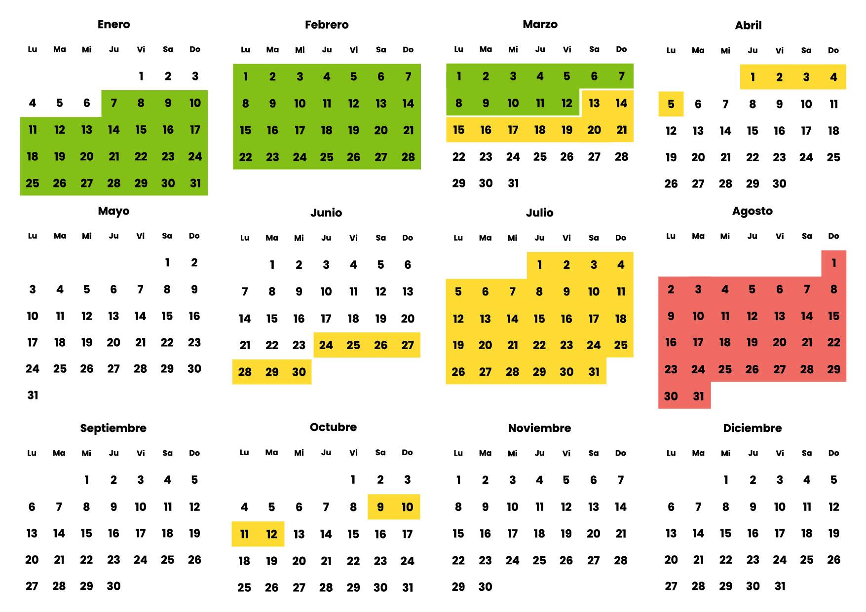 Calendario Valencia Campers